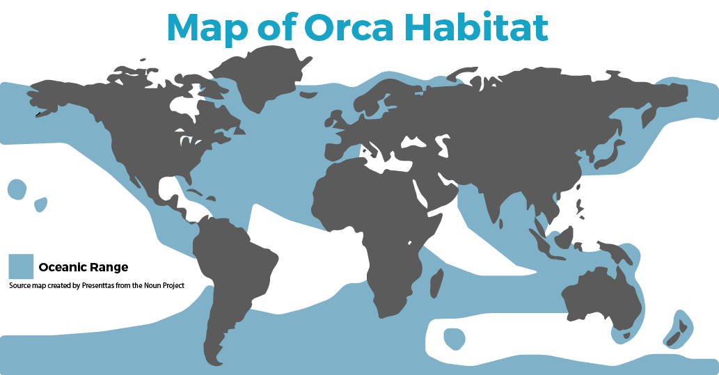 Map of Orca Habitat